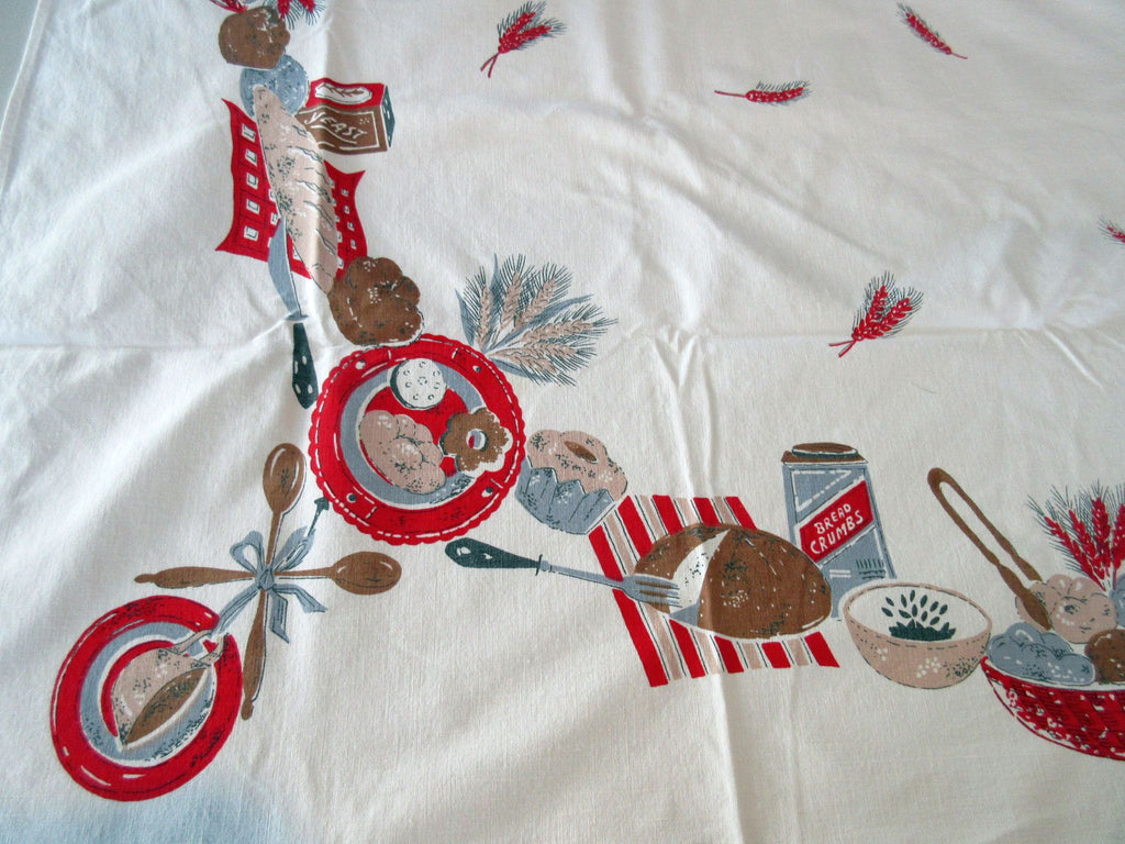 Bread Rolls Baking Bakery Novelty Vintage Printed Tablecloth (62 X 49)