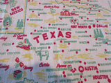 Texas State Souvenir Cactus Cloth Novelty Vintage Printed Tablecloth (36 X 28)