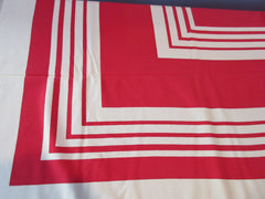 Bold Red Stripes Novelty Vintage Printed Tablecloth (52 X 46)