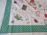 Primary Cooking Poem Food Novelty Vintage Printed Tablecloth (65 X 50)