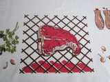 CHP BBQ Barbeque Grilling Novelty Vintage Printed Tablecloth (60 X 54)