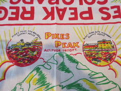 Unwashed Pikes Peak Colorado State Souvenir Novelty Vintage Printed Tablecloth (52 X 49)