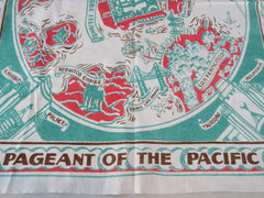 San Francisco World's Fair SFWF 1939 Souvenir Novelty Vintage Printed Tablecloth (34 X 30)