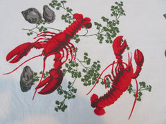 Giant Wilendur Wilendure Lobster Clams Novelty Vintage Printed Tablecloth (87 X 53)