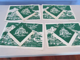 Till Goodan Pueblo Indians Green Placements Napkins Novelty Vintage Printed