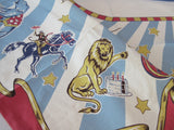Restoration Hardware Retro Birthday Circus NIP Vintage INSPIRED Printed Tablecloth (71 X 48)