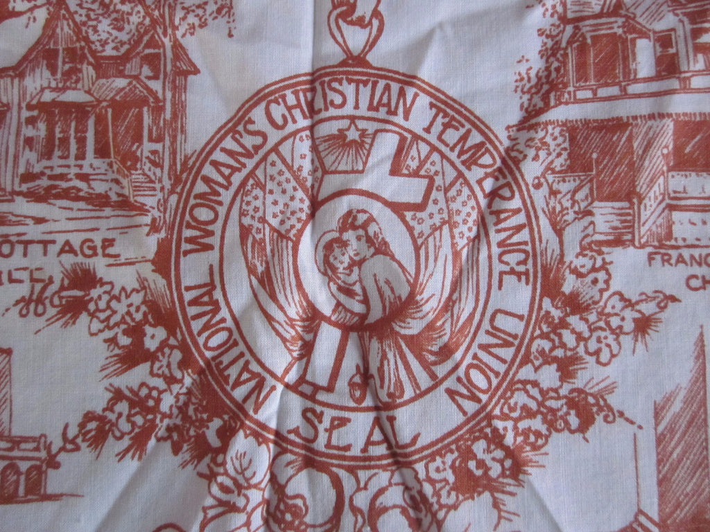 Rare Womens Christian Temperance Union (WCTU) Vintage Printed Tablecloth (37 X 27)