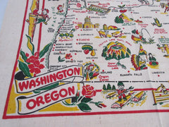 Unwashed Washington Oregon State Souvenir Novelty Vintage Printed Tablecloth (39 X 33)