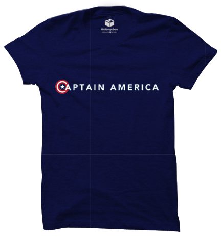 Captain America Minimal Melangebox Graphic Tee