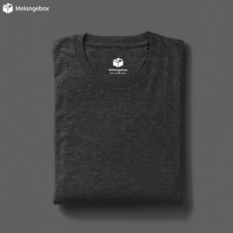 Basic DimGrey Crewneck Melangebox T-Shirt
