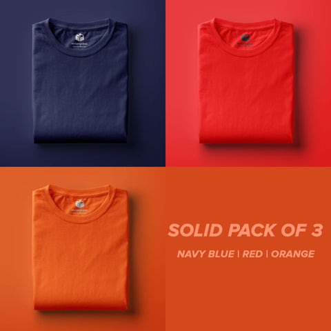 Solid Pack of 3 Melangebox Basic Tee