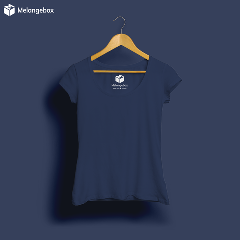 Midnight Navy Blue Basic Premium Tee