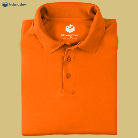 Basic Orange Premium Polo Tee