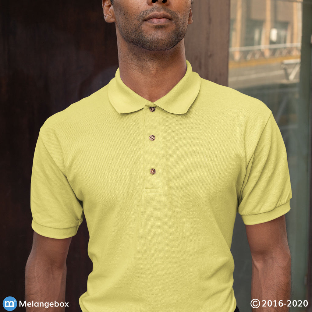 Polo Tee: Lemon Yellow