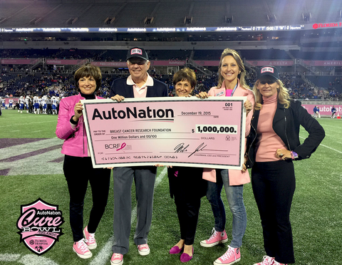 AutoNation Check Presentation to Breast Cancer Foundation
