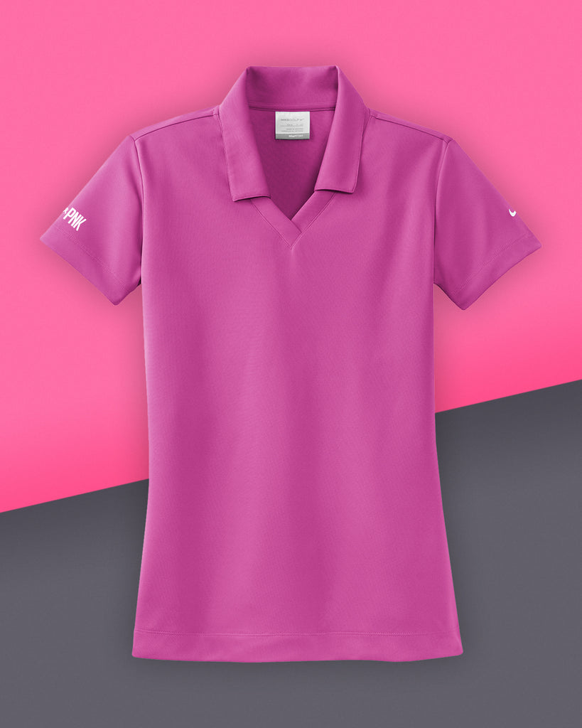 Nike - Ladies' Dri-FIT Micro Pique Drive Pink Polo - Fusion Pink