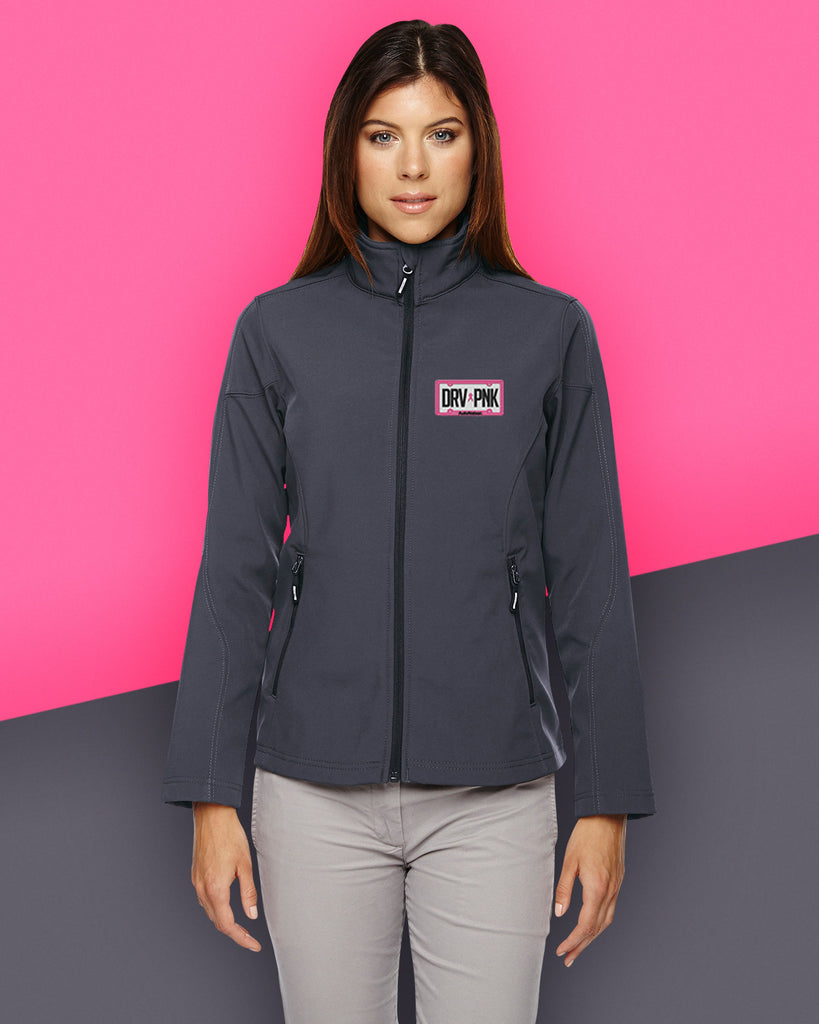 *AutoNation - Ash City - Core 365 Ladies' Cruise Two-Layer Fleece Bonded Soft Shell Jacket - Carbon