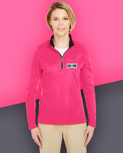 AutoNation - UltraClub Ladies' Cool & Dry Sport Quarter-Zip Pullover - Heliconia