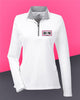 AutoNation - UltraClub Ladies' Cool & Dry Sport Quarter-Zip Pullover - White