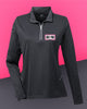 AutoNation - UltraClub Ladies' Cool & Dry Sport Quarter-Zip Pullover - Black