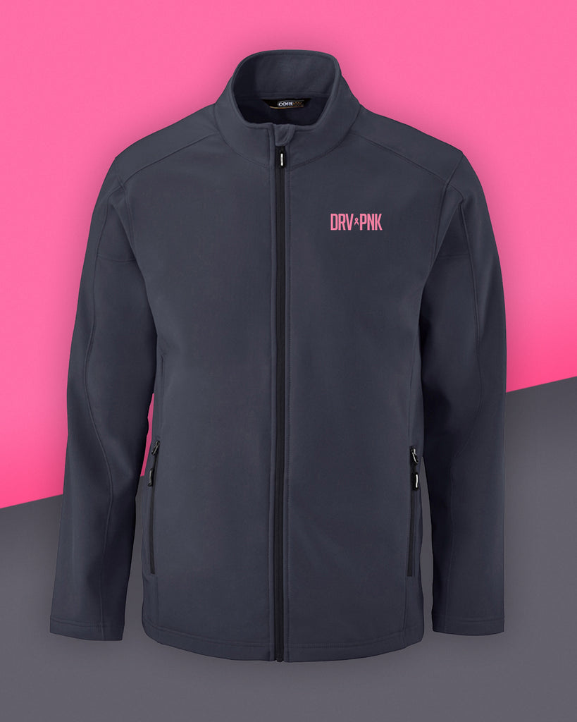 Men's Ash City - Core 365 Drive Pink Two-Layer Fleece Bonded Soft Shell Jacket
