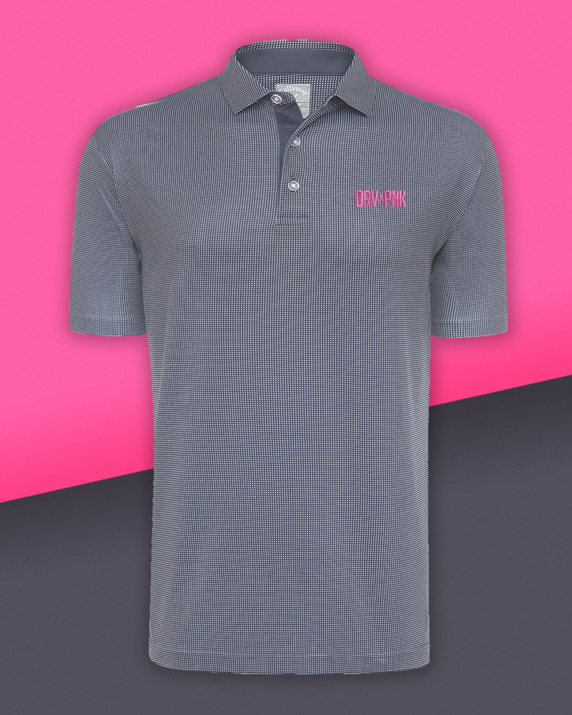 Callaway - Men's Drive Pink Gingham Golf Polo