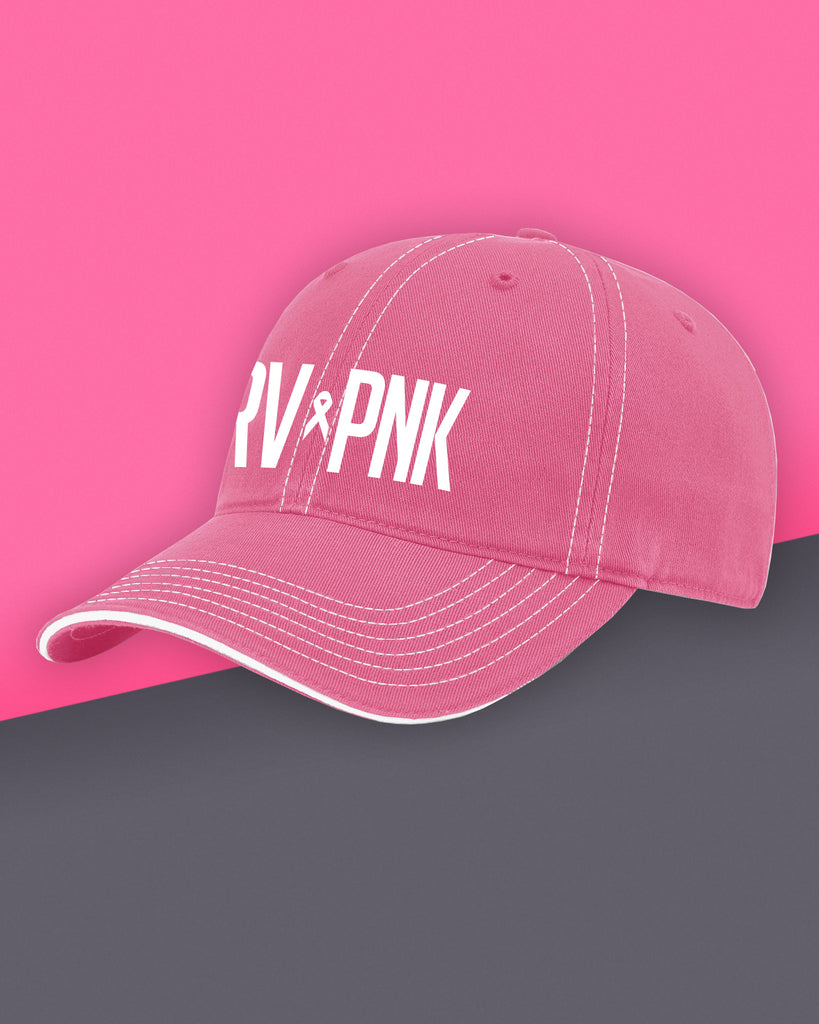 Drive Pink - Washed Chino Twill Cap - Hot Pink+White