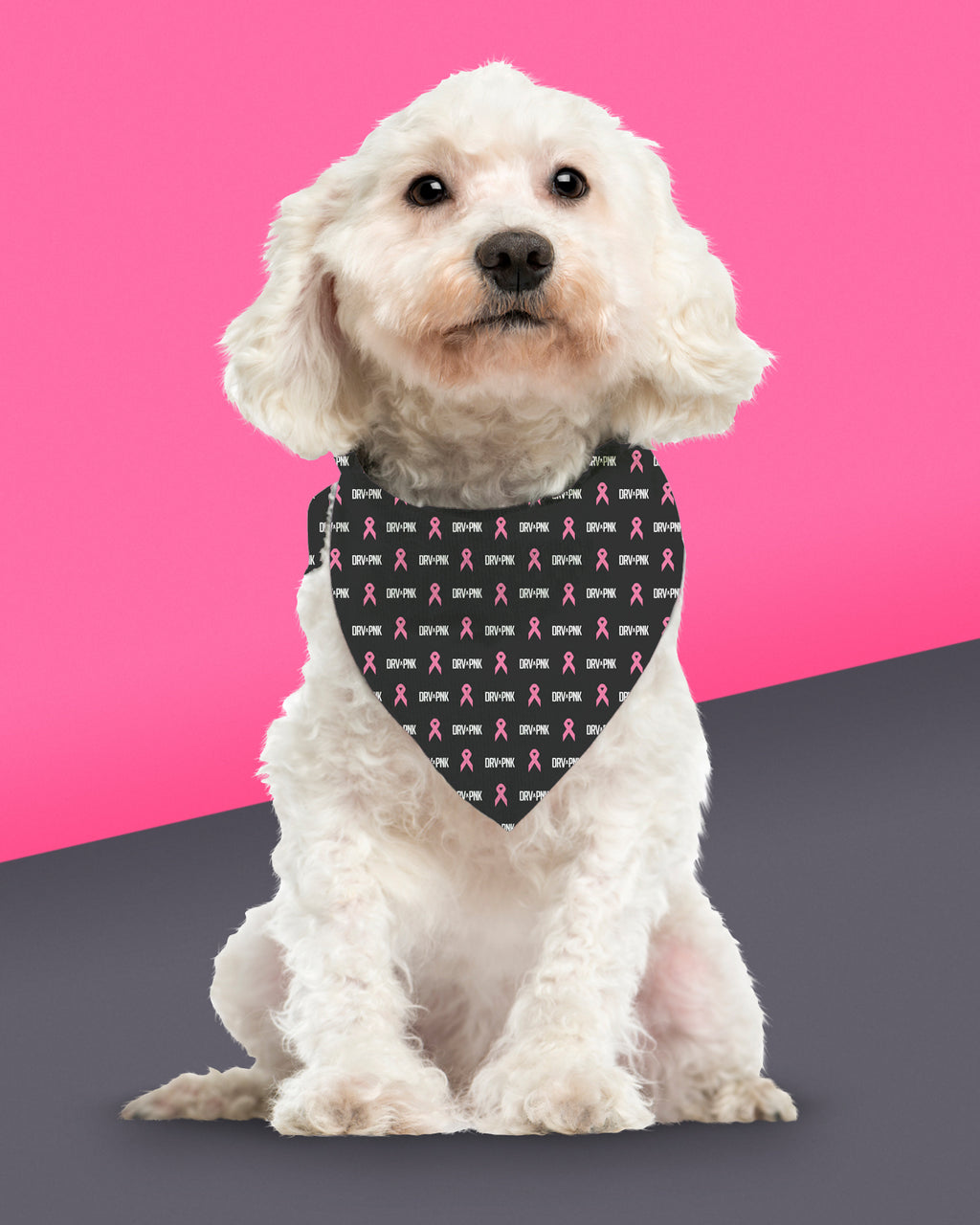Pet Bandana - Drive Pink/Black