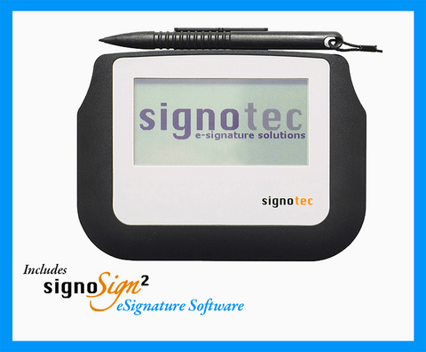 Electronic Signature Pad -  Sigma Backlit  HID USB 5M Cable - with Software - MetaDolce Technologies - 1