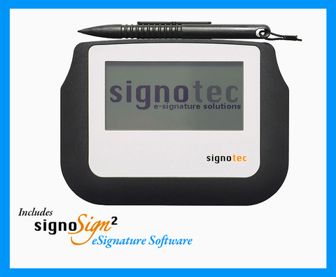 Electronic Signature Pad - HID USB - 2M Cable - Sigma with Software - MetaDolce Technologies - 1