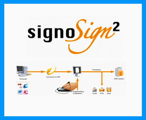 Electronic Signature Pad - SignoSign2 PDF Software for Windows - MetaDolce Technologies - 1