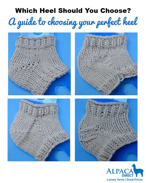 Learn An Easy Way To Choose Your Sock Heel Style | Sock Knitting