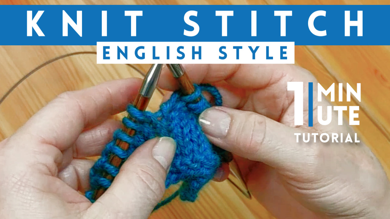 The Knit Stitch (English Style)