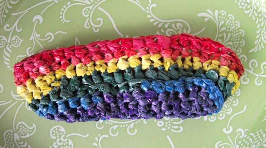 Hand-Dyed Plastic Bag Yarn Tutorial