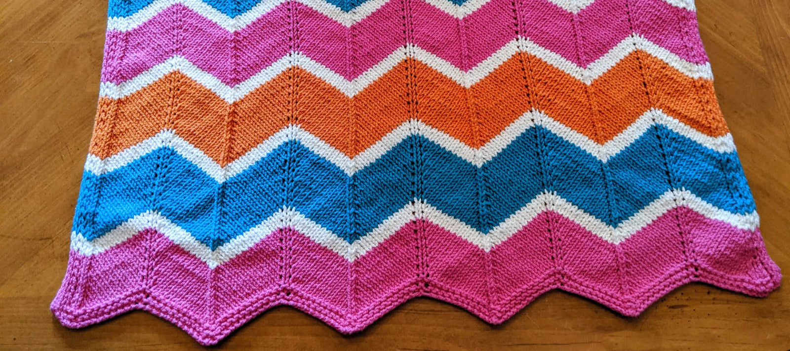 An Easy Knit Baby Blanket The Chevron Blanket