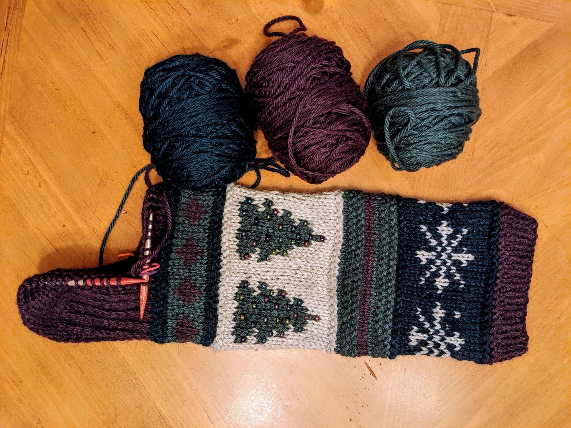 Holiday Stocking Knitting Tips for Beads & Afterthought Heels