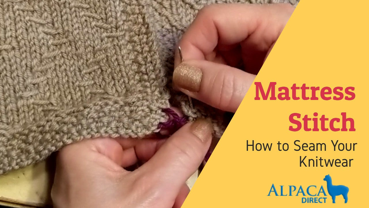Mattress Stitch - How to Seam Knitwear