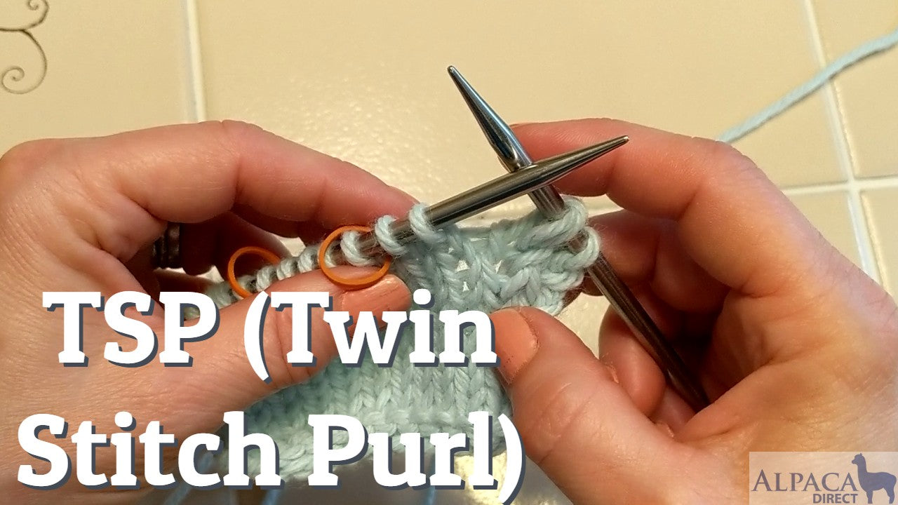 Learn the TSP (Twin Stitch Purl) Knitting Technique