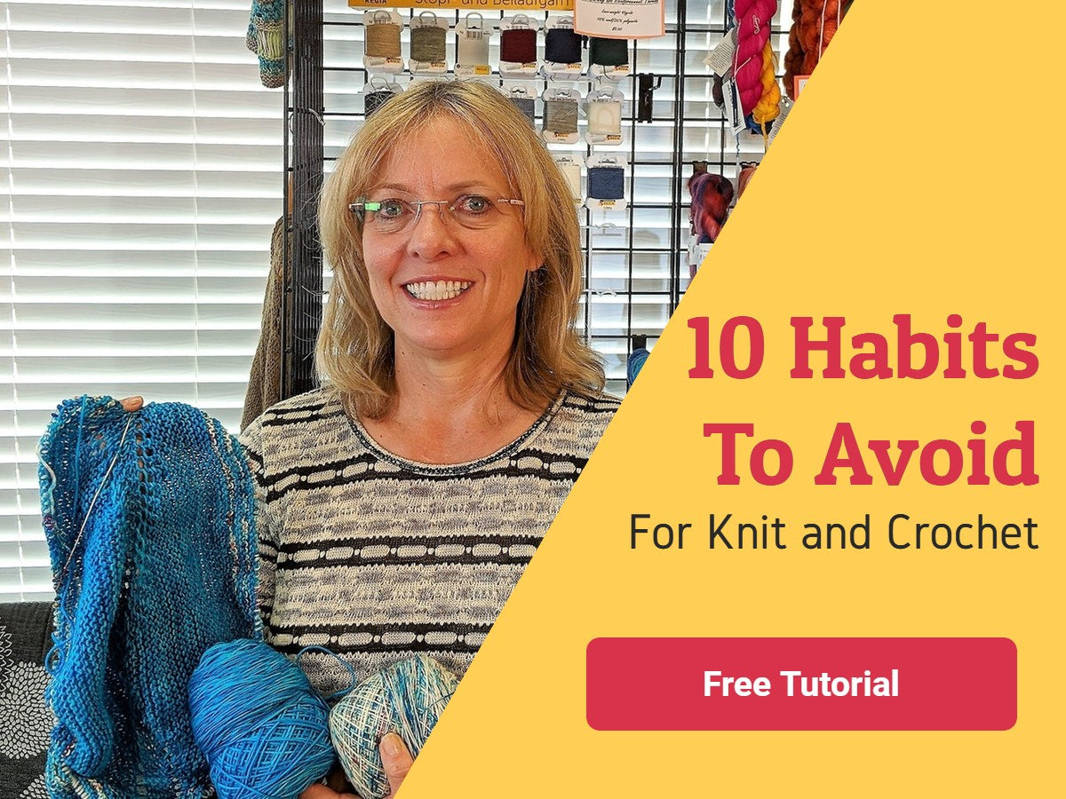 10 habits to avoid for knitters