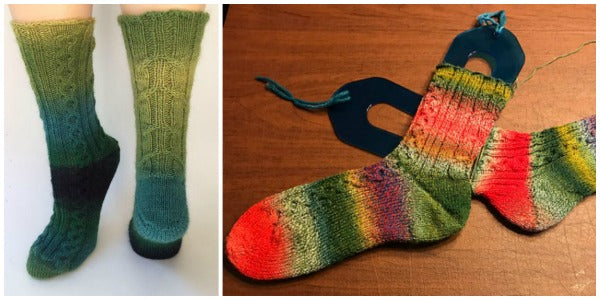 Cableship free sock knitting pattern