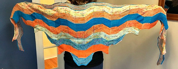 Building Blocks knit shawl pattern