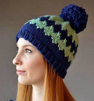 38a64553b Diamonds are High free hat knitting pattern