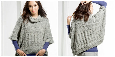 Glacer Bay Poncho free knitting patterns