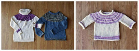His & Hers Yoke Sweater free knitting patterns