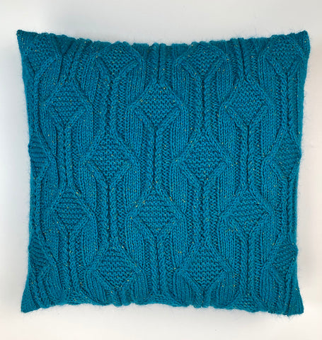 cable channel knit pillow
