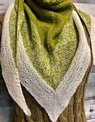Spring Kerchief shawl knitting pattern