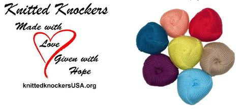 knitted knockers for charity
