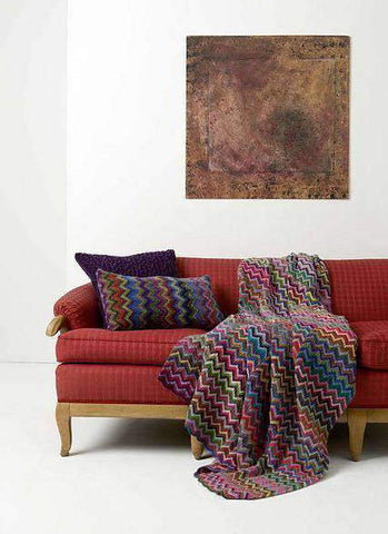 knit pillow and knit blanket free pattern