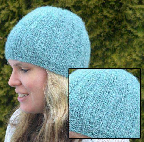 Pocket Slouch free hat knitting pattern