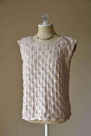 Sand Dollar Tank free knitting pattern